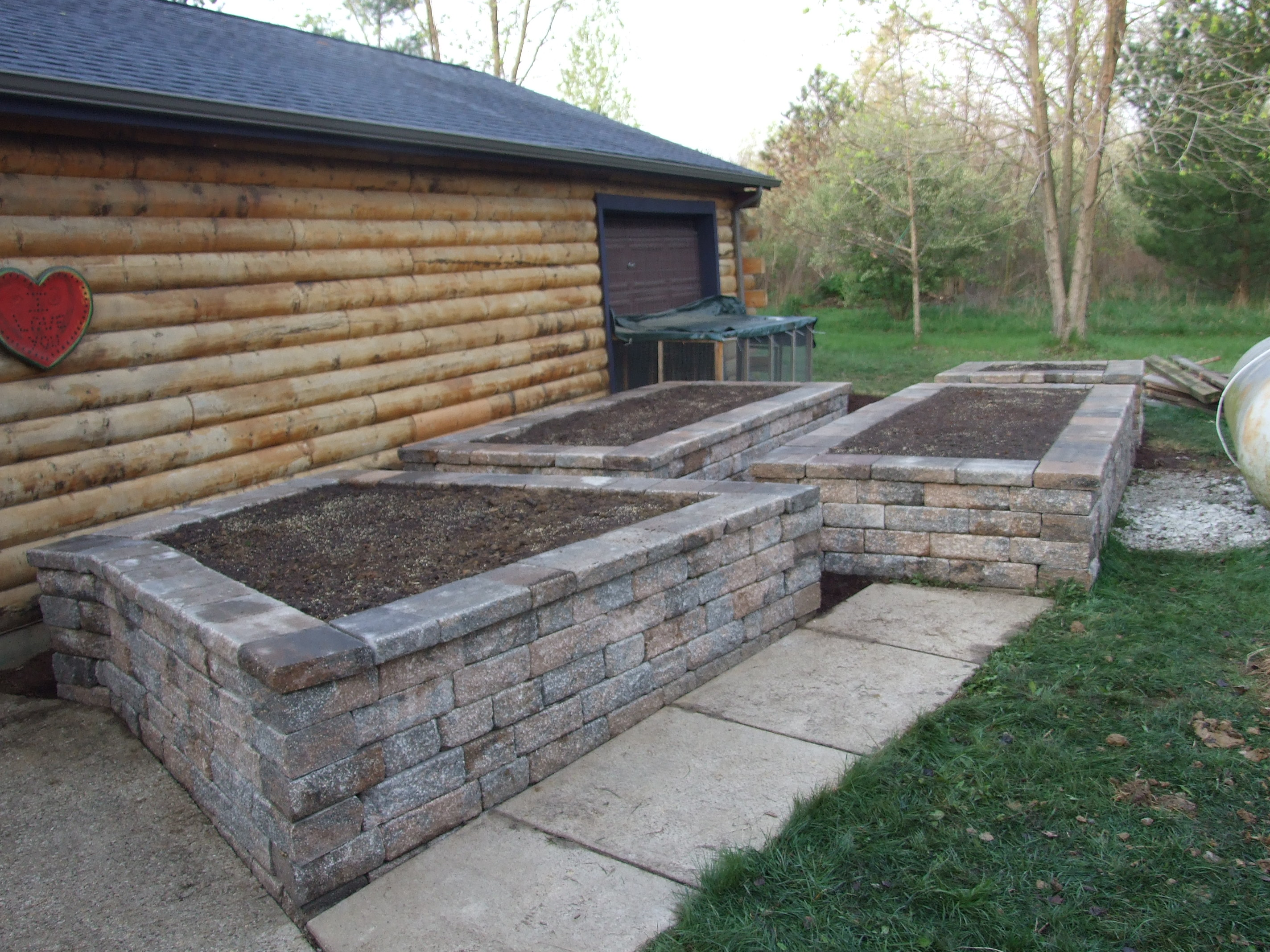 Raised Garden Bed build by Designer Landscapes.