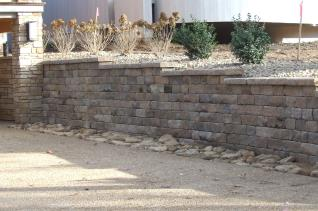 Brand New Retaining Walls - right finished